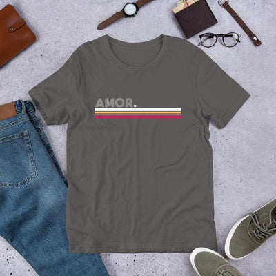 Leanne & Co. Shirt Asphalt / S Amor Stripe Short-Sleeve Unisex T-Shirt