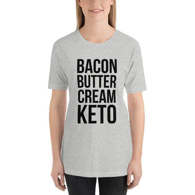 Leanne & Co. Shirt Athletic Heather / S Bacon Butter Cream Keto Short-Sleeve Unisex T-Shirt