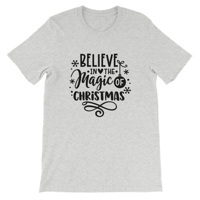 Leanne & Co. Shirt Athletic Heather / S Believe The Magic of Christmas Short-Sleeve Unisex T-Shirt