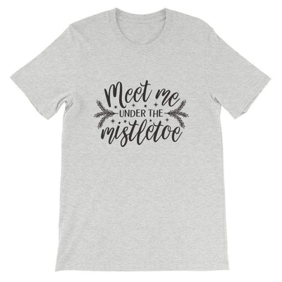 Leanne & Co. Shirt Athletic Heather / S Meet Me Under the Mistletoe Short-Sleeve Unisex T-Shirt