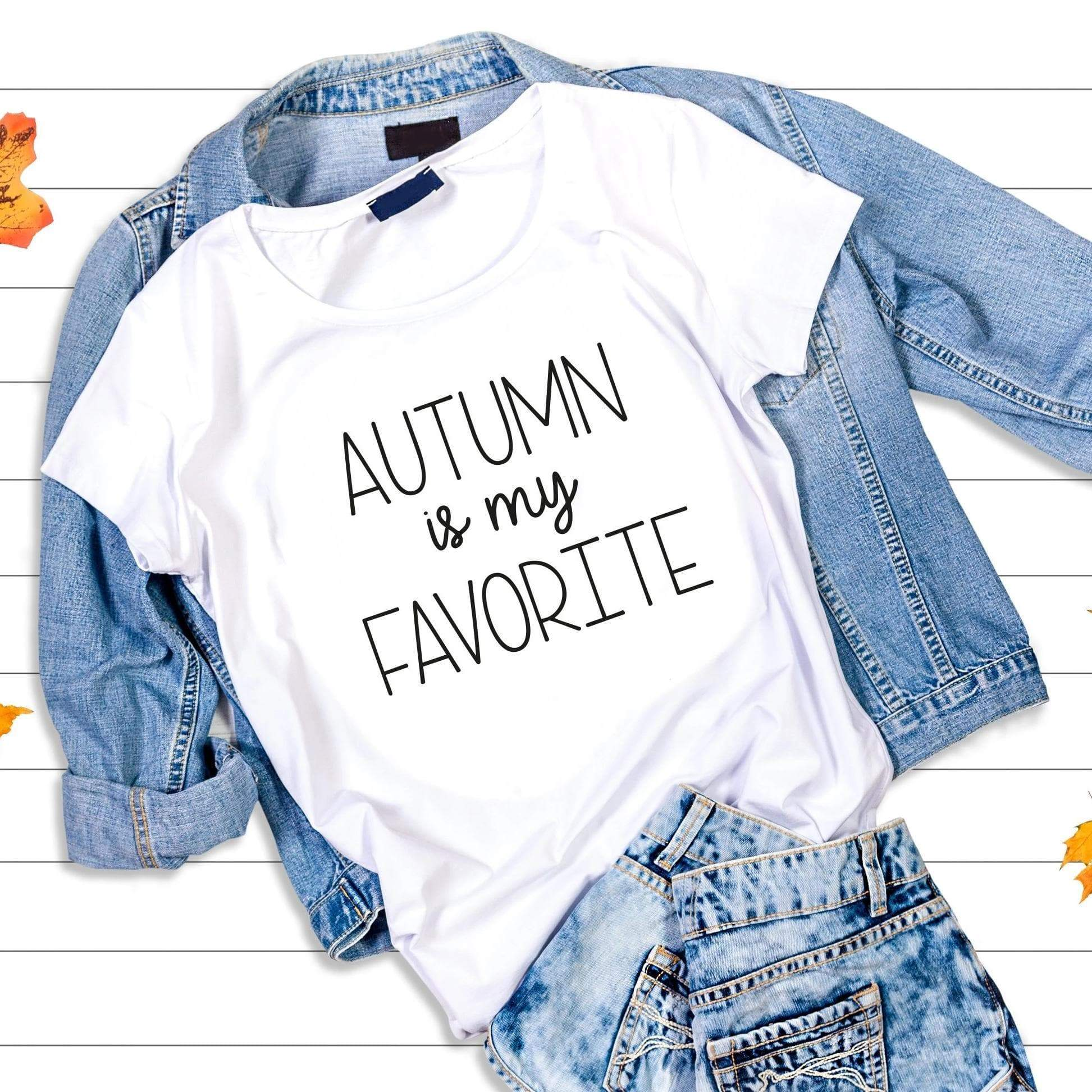 Leanne & Co. Shirt Autumn Is My Favorite Short-Sleeve Unisex T-Shirt