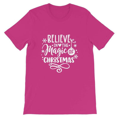 Leanne & Co. Shirt Berry / S Believe The Magic of Christmas Short-Sleeve Unisex T-Shirt