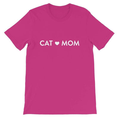 Leanne & Co. Shirt Berry / S Cat Mom Short-Sleeve Unisex T-Shirt