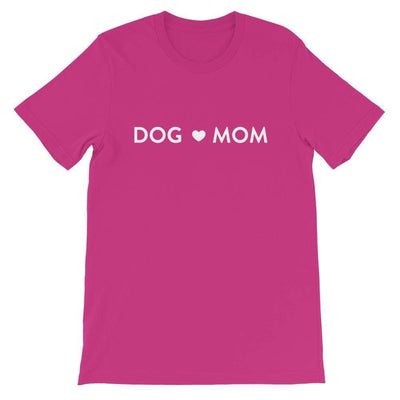 Leanne & Co. Shirt Berry / S Dog Mom Short-Sleeve Unisex T-Shirt
