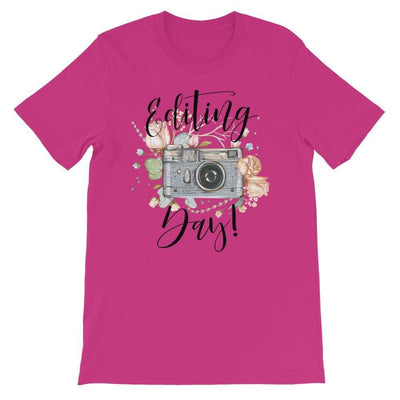 Leanne & Co. Shirt Berry / S Editing Day Short-Sleeve Unisex T-Shirt