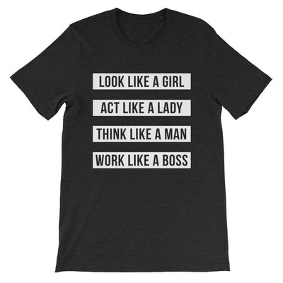Leanne & Co. Shirt Black Heather / S Work Like A Boss Unisex T-Shirt
