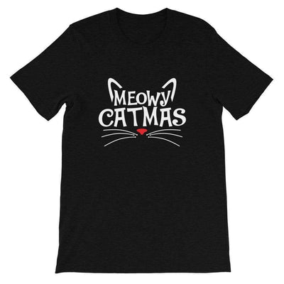 Leanne & Co. Shirt Black Heather / XS Meowy Catmas Short-Sleeve Unisex T-Shirt