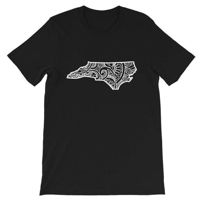 Leanne & Co. Shirt Black / XS North Carolina Doodle Short-Sleeve Unisex T-Shirt