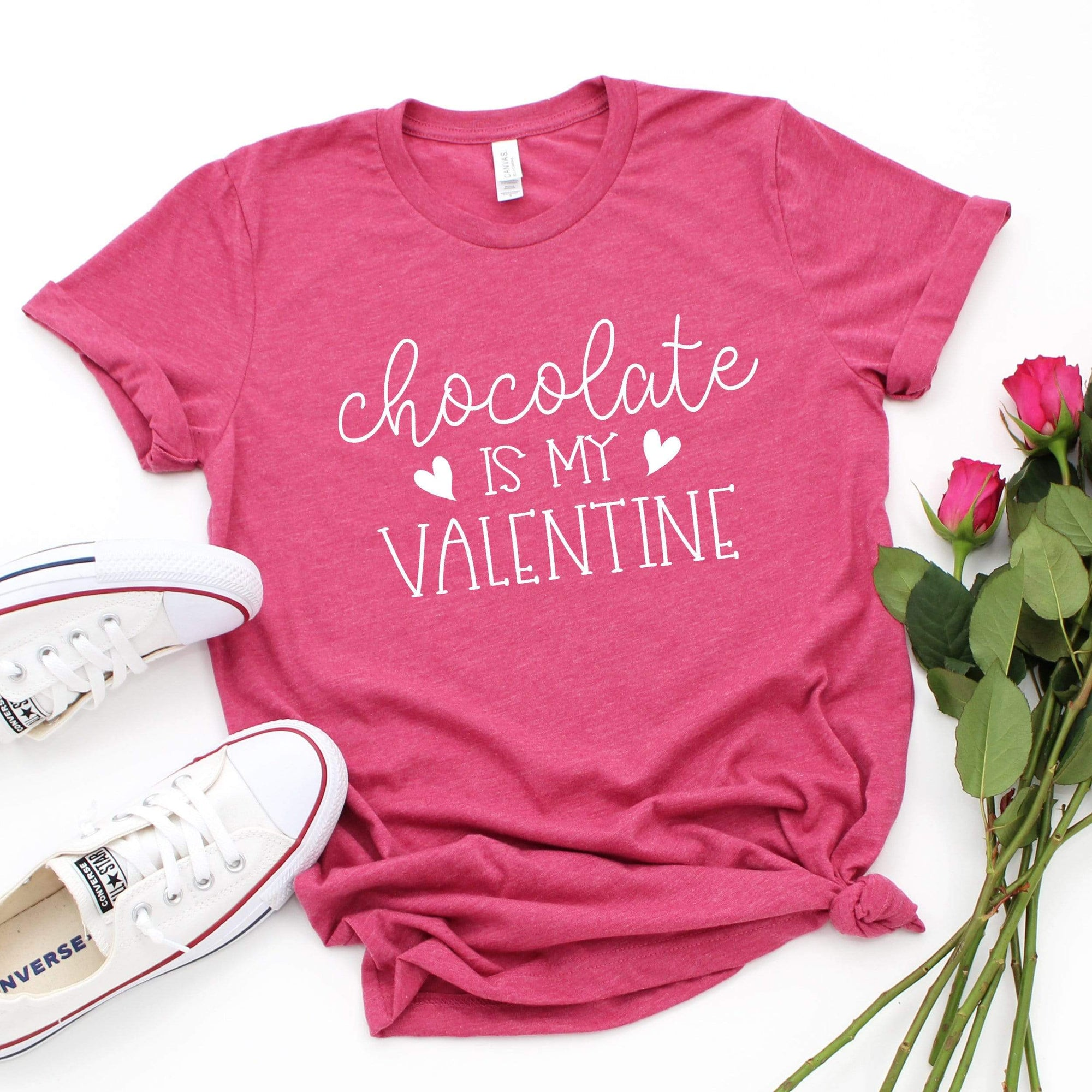 Leanne & Co. Shirt Chocolate is my Valentine Short-Sleeve Unisex T-Shirt