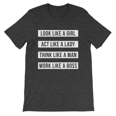 Leanne & Co. Shirt Dark Grey Heather / S Work Like A Boss Unisex T-Shirt