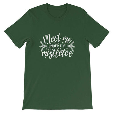 Leanne & Co. Shirt Forest / S Meet Me Under the Mistletoe Short-Sleeve Unisex T-Shirt