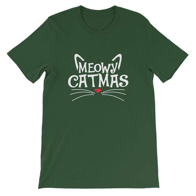 Leanne & Co. Shirt Forest / S Meowy Catmas Short-Sleeve Unisex T-Shirt
