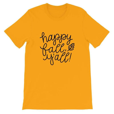 Leanne & Co. Shirt Gold / S Happy Fall Y'all! Short-Sleeve Unisex T-Shirt