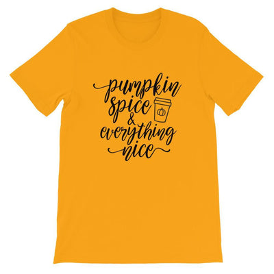 Leanne & Co. Shirt Gold / S Pumpkin Spice and Everything Nice Short-Sleeve Unisex T-Shirt