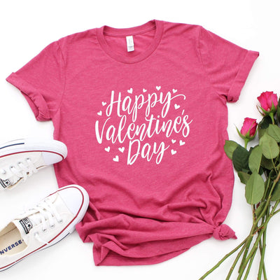 Leanne & Co. Shirt Happy Valentine's Day Short-Sleeve Unisex T-Shirt