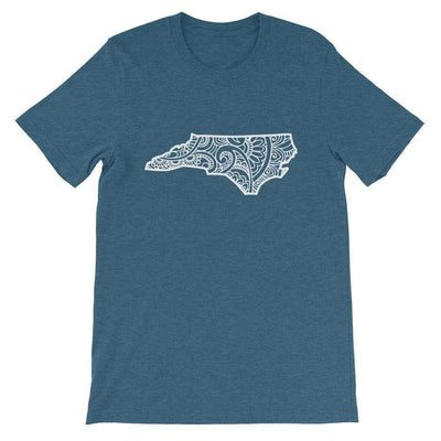 Leanne & Co. Shirt Heather Deep Teal / S North Carolina Doodle Short-Sleeve Unisex T-Shirt