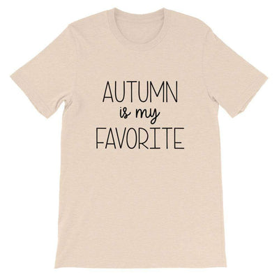 Leanne & Co. Shirt Heather Dust / S Autumn Is My Favorite Short-Sleeve Unisex T-Shirt