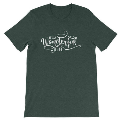 Leanne & Co. Shirt Heather Forest / S It's a Wonderful Life Short-Sleeve Unisex T-Shirt