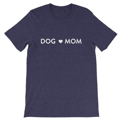 Leanne & Co. Shirt Heather Midnight Navy / XS Dog Mom Short-Sleeve Unisex T-Shirt