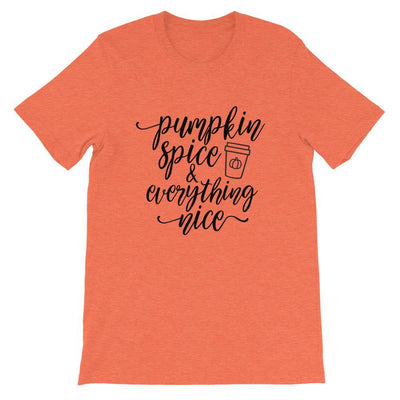 Leanne & Co. Shirt Heather Orange / S Pumpkin Spice and Everything Nice Short-Sleeve Unisex T-Shirt