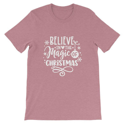 Leanne & Co. Shirt Heather Orchid / S Believe The Magic of Christmas Short-Sleeve Unisex T-Shirt
