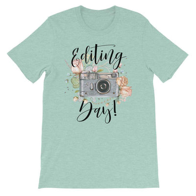 Leanne & Co. Shirt Heather Prism Dusty Blue / XS Editing Day Short-Sleeve Unisex T-Shirt