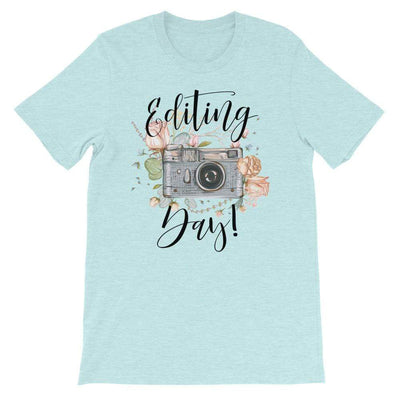 Leanne & Co. Shirt Heather Prism Ice Blue / XS Editing Day Short-Sleeve Unisex T-Shirt