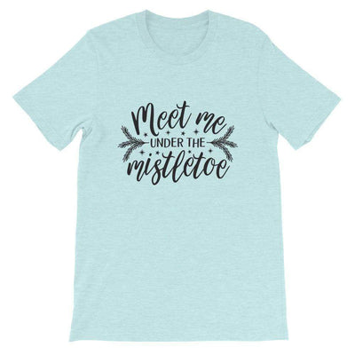 Leanne & Co. Shirt Heather Prism Ice Blue / XS Meet Me Under the Mistletoe Short-Sleeve Unisex T-Shirt