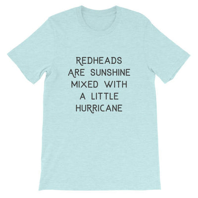 Leanne & Co. Shirt Heather Prism Ice Blue / XS Redheads Are Sunshine Short-Sleeve Unisex T-Shirt