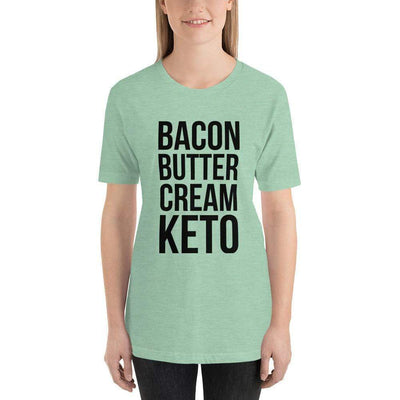 Leanne & Co. Shirt Heather Prism Mint / XS Bacon Butter Cream Keto Short-Sleeve Unisex T-Shirt