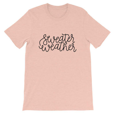 Leanne & Co. Shirt Heather Prism Peach / XS Sweater Weather Short-Sleeve Unisex T-Shirt