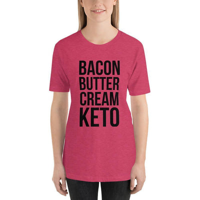 Leanne & Co. Shirt Heather Raspberry / S Bacon Butter Cream Keto Short-Sleeve Unisex T-Shirt