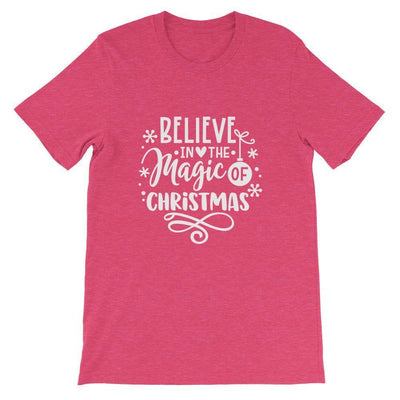 Leanne & Co. Shirt Heather Raspberry / S Believe The Magic of Christmas Short-Sleeve Unisex T-Shirt
