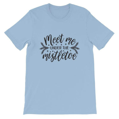 Leanne & Co. Shirt Light Blue / XS Meet Me Under the Mistletoe Short-Sleeve Unisex T-Shirt