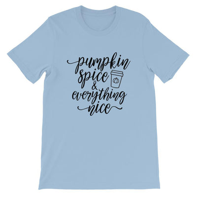 Leanne & Co. Shirt Light Blue / XS Pumpkin Spice and Everything Nice Short-Sleeve Unisex T-Shirt