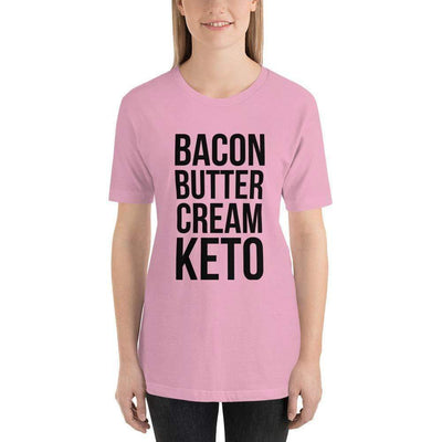 Leanne & Co. Shirt Lilac / S Bacon Butter Cream Keto Short-Sleeve Unisex T-Shirt