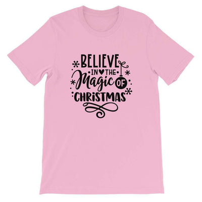 Leanne & Co. Shirt Lilac / S Believe The Magic of Christmas Short-Sleeve Unisex T-Shirt