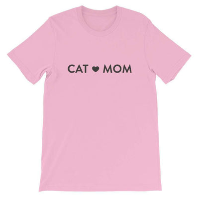 Leanne & Co. Shirt Lilac / S Cat Mom Short-Sleeve Unisex T-Shirt