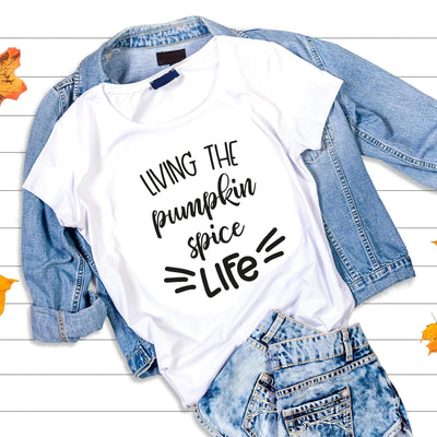 Leanne & Co. Shirt Living The Pumpkin Spice Live Short-Sleeve Unisex T-Shirt