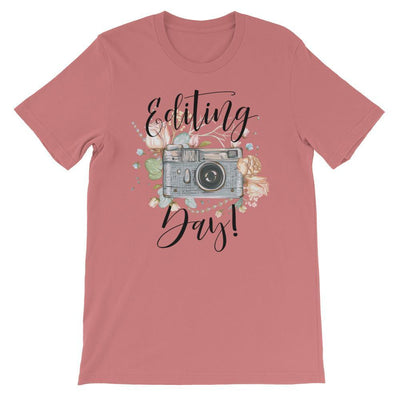 Leanne & Co. Shirt Mauve / S Editing Day Short-Sleeve Unisex T-Shirt