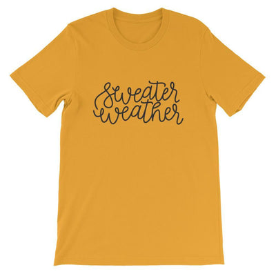 Leanne & Co. Shirt Mustard / M Sweater Weather Short-Sleeve Unisex T-Shirt