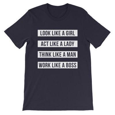Leanne & Co. Shirt Navy / S Work Like A Boss Unisex T-Shirt