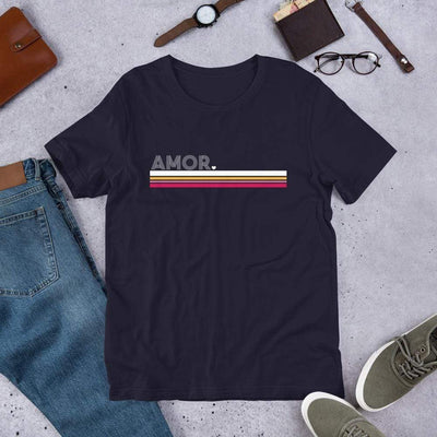 Leanne & Co. Shirt Navy / XS Amor Stripe Short-Sleeve Unisex T-Shirt