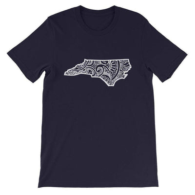Leanne & Co. Shirt Navy / XS North Carolina Doodle Short-Sleeve Unisex T-Shirt
