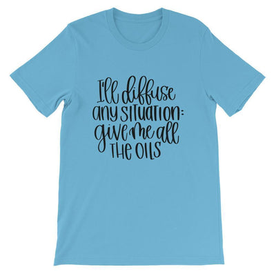 Leanne & Co. Shirt Ocean Blue / S I'll Diffuse Any Situation Short-Sleeve Unisex T-Shirt