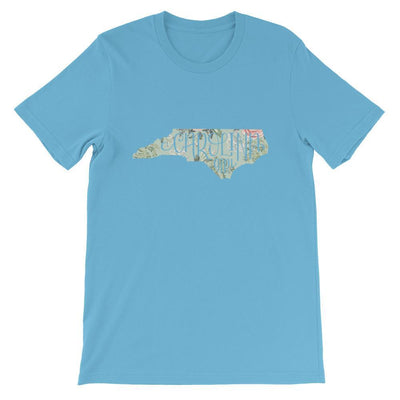 Leanne & Co. Shirt Ocean Blue / S Vintage Floral Carolina Girl Short-Sleeve Unisex T-Shirt