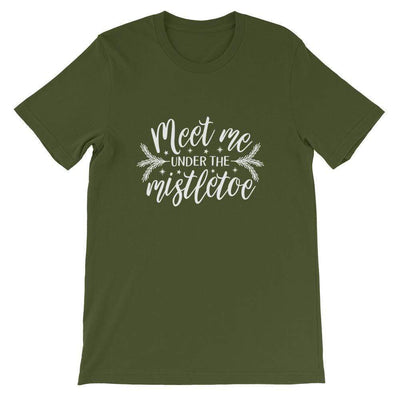Meet Me Under the Mistletoe Short-Sleeve Unisex T-Shirt