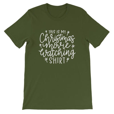 Leanne & Co. Shirt Olive / S This Is my Christmas Movie Watching Short-Sleeve Unisex T-Shirt