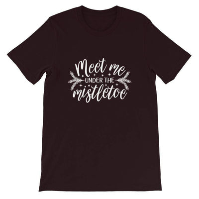 Leanne & Co. Shirt Oxblood Black / S Meet Me Under the Mistletoe Short-Sleeve Unisex T-Shirt