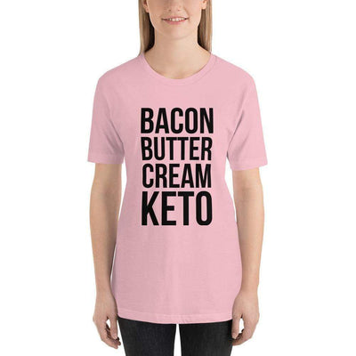 Leanne & Co. Shirt Pink / S Bacon Butter Cream Keto Short-Sleeve Unisex T-Shirt
